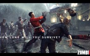 лондон, мертвецы, выживший, кровь, голова, вирус, заражение, оружие, ночь, дождь, челоевк, мужчина