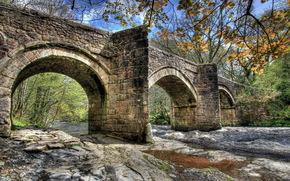 ponte, fiume, paesaggio