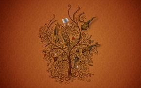 texture, tree, music, Tools, violin, harp, music, pipe