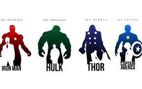 Iron Man, Casco, Thor, Capitn Amrica, Hroes