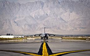 c-17 globemaster iii, самолёт, аэродром