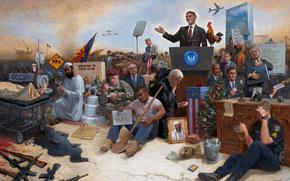 obamanation, Barack Obama, EE.UU., Amrica, personas, guerra, Jon McNaughton
