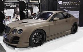 Bentley, Continentale, SuperSport, disegno o modello anteriore, sema, sintonia, Bentley, Continentale, Supersport, Sintonia, mostra