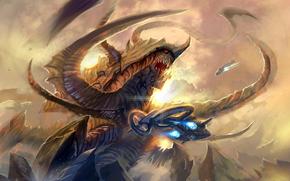 fanart, Terran, Zerg, Ultralisca, aereo, combattere