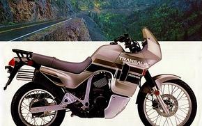 1990, honda, transalp, brochure