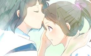 Art, girl, guy, hack, Chihiro, Spirited Away, anime, Hayao Miyazaki