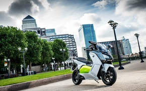 bmw, c-evolution, scooter, electric, ecologic, London, 2012
