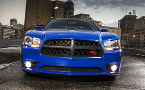 Dodge, Charger, Street, blue, cars, machinery, Car