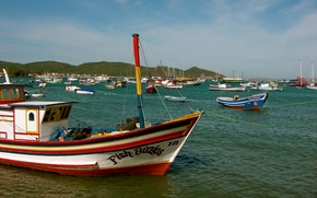 buzios, brazil, fish, boats, colorful, coordinates -22.748683, -41.881567, Бузиос, Бразилия, рыба, лодки, красочные, -22, 748683 координаты, -41, 881567