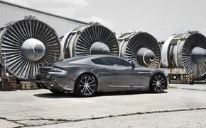 Aston Martin, wheelbarrow, Car, cars, machinery, Car