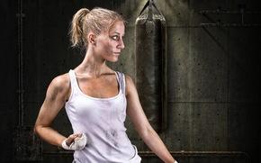 girl, Sport, training