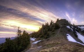 mountain, sky, landscape
