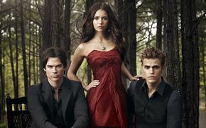 The Vampire Diaries, serie, Nina Dobrev, Paul Wesley, Ian Somerhalder