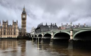 Londra, ponte, Thames, guardare