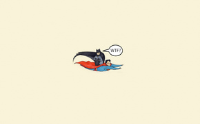 superman, Superman, comic strip, batman, batman, flight, situation, minimalism, wtf, inscription