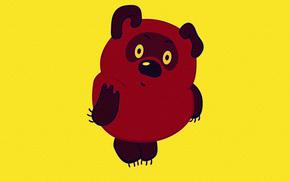 amarillo, fondo, Carcter, Winnie the Pooh, Dibujos animados