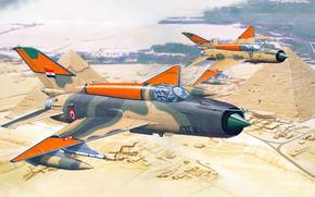 самолет, истребитель, авиация, Египет, пирамиды, ВВС