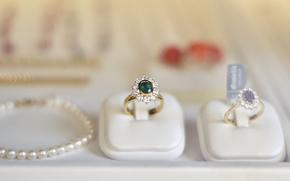 Humeur, Anneau, Prcieux, Engagement, pierre, collier, perle, perle, fond, papier peint