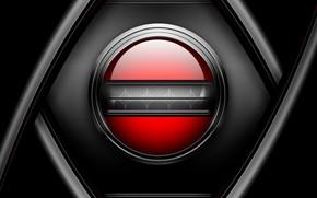 сетка, металл, кнопка, черный, красный