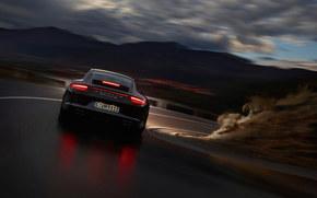 Nacht, Rate, Reflexion, Beleuchtung, Porsche