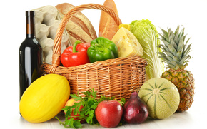 fruit, vegetables, basket