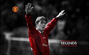 David Beckham, mu, Manchester United, footballeur, легенда клуба