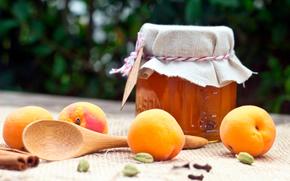 fruits, pit, apricots, jam, Фрукты, абрикосы, варенье