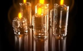 蜡烛, 火, 反射