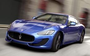 cars, car, machinery, machine, Maserati, Sport, blue, motion, road, Maserati