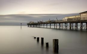 bridge, sea, landscape