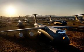 самолёты, аэродром