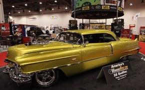 Cadillac, coupe de ville, auto-Meter-Produkte, 1956, Abstimmung, sema, Cadillac, Coupe de Ville, Abstimmung, Ausstellung, autoshow, Retro