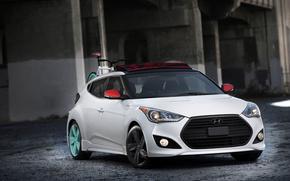 Hyundai, белый, здание, автомобили, машины, авто