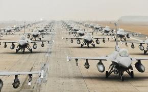самолёты, оружие, аэродром
