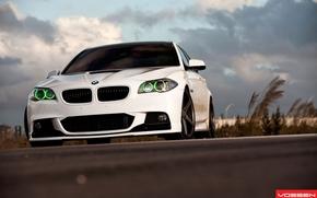 бмв, белый, небо, BMW