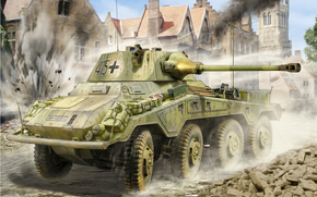 picture, German, Heavy, armored car
