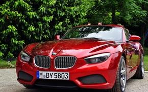 2012, bmw, Zagato, coupe, bright, red, concorso d'eleganza villa d'este, Scarlet