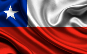 chile, satin, flag, chili, Atlas, flag
