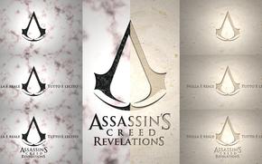Assassins Creed, Rivelazione, segni, caratteri