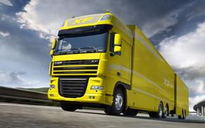 DAP, iksef, camion, trailer, giallo