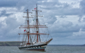 Brig, sailing ship, sea, Other machinery and equipment