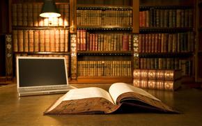 Libros, Pgina, lmpara, cuaderno, biblioteca