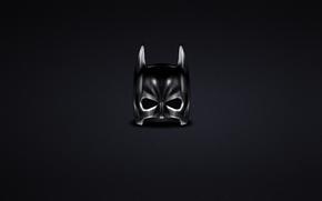Бэтмен, минимализм, комикс, маска, темный