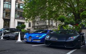 ламборджини, авентадор, суперкар, бугатти, вейрон, гиперкар, передок, Bugatti