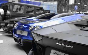 мерседес, джип, авентадор, ламборджини, черный, мат, бугатти, вейрон, синий, хром, суперкар, гиперкар, задок, парковка, Bugatti
