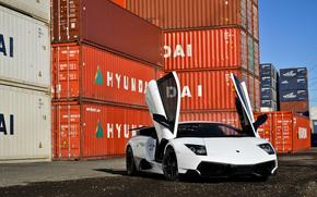 ламборджини, белый, суперкар, Lamborghini