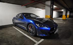 мазерати, синий, суперкар, роскошь, Maserati