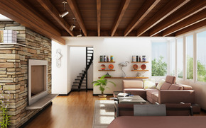 interior, style, design, home, villa, living room