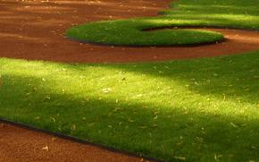 erba, parco, ciottolo, Pietro, estate, aiuola