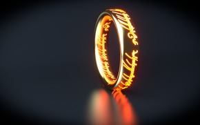 Art, ring, inscriptions, Lord of the Rings